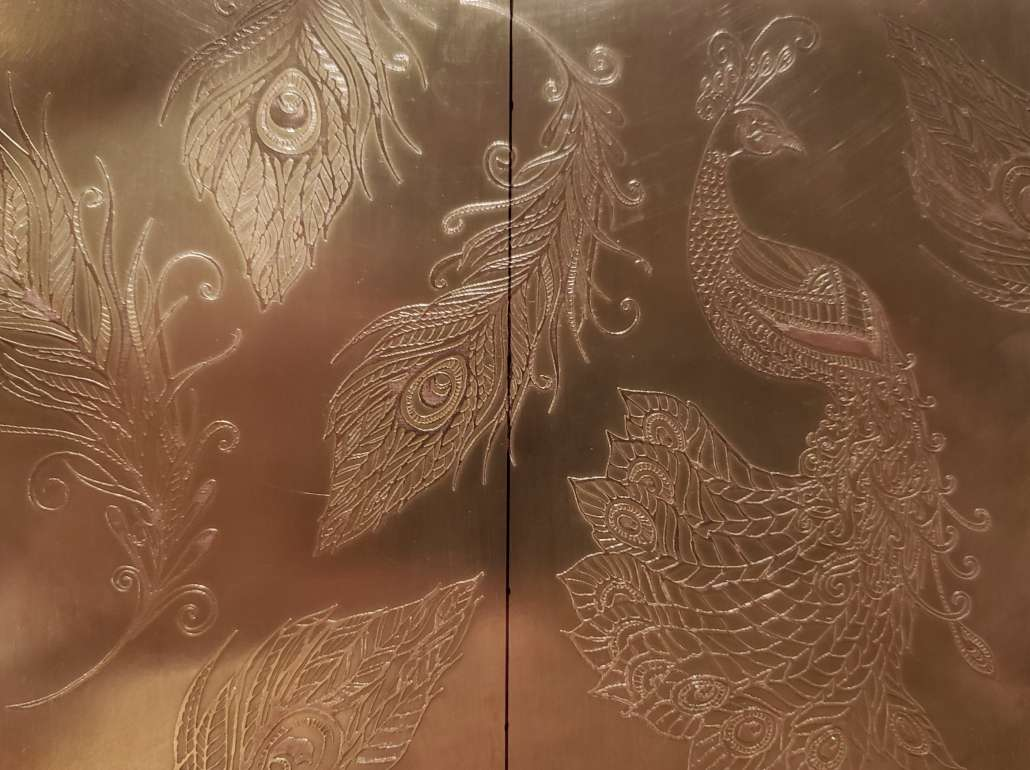 Etched brass ready for forming_